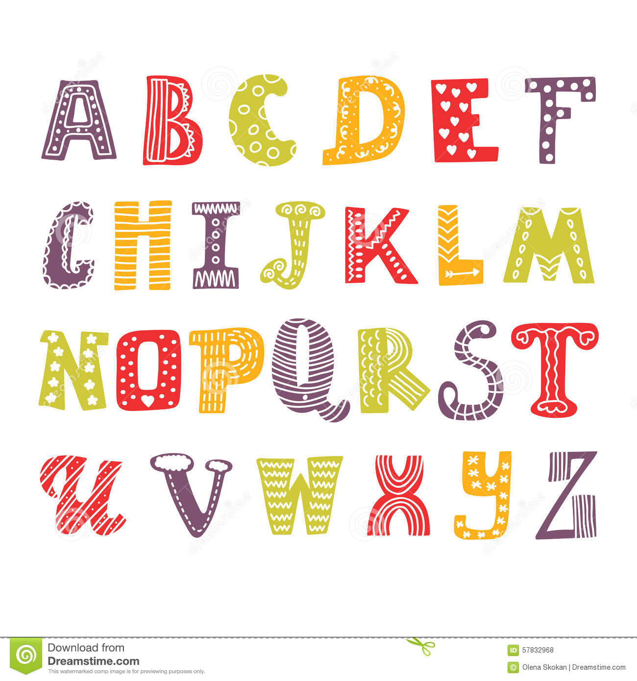 Cute Hand Drawing Alphabet Funny Font Drawn Design
