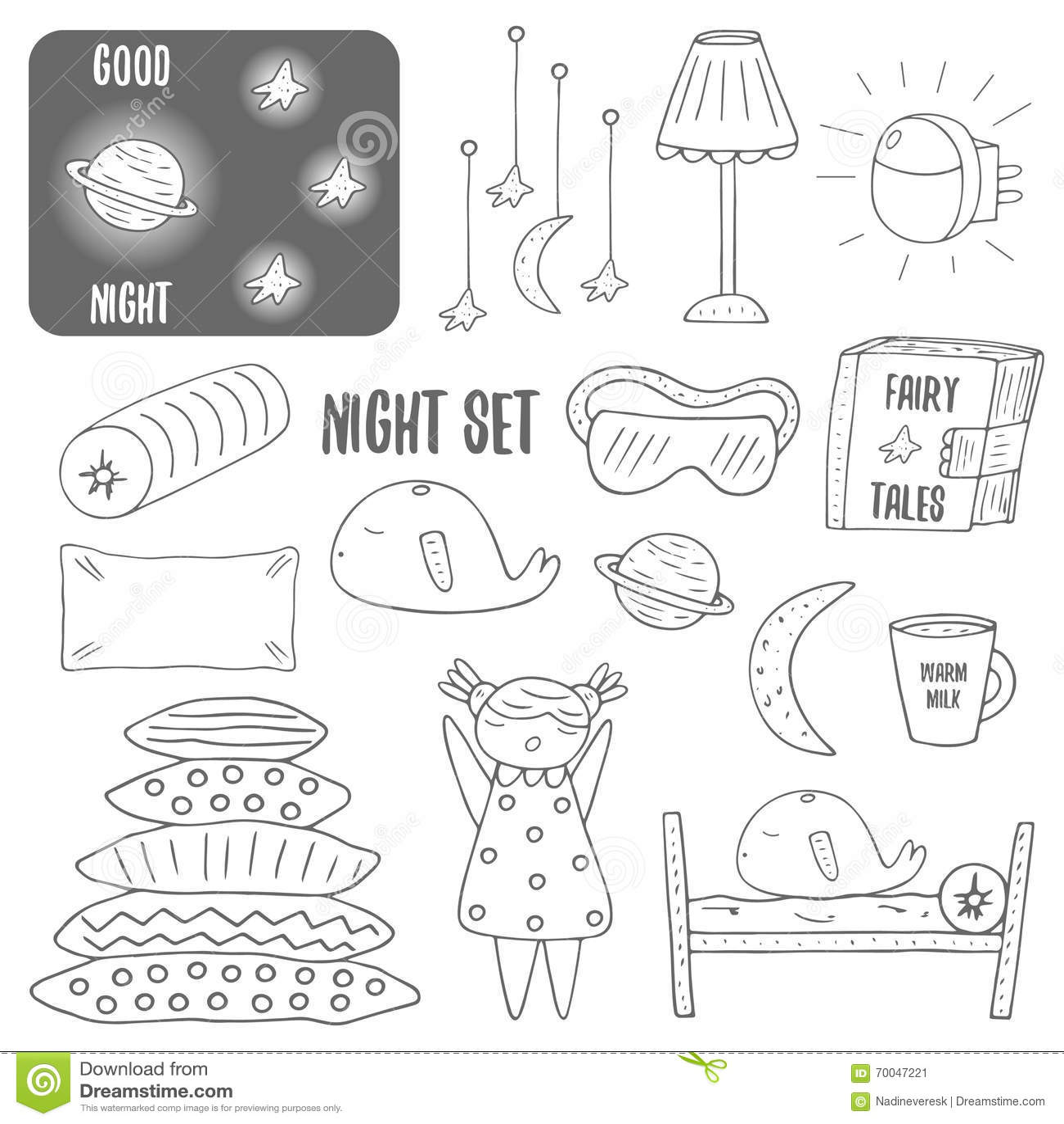 girl make bed clipart