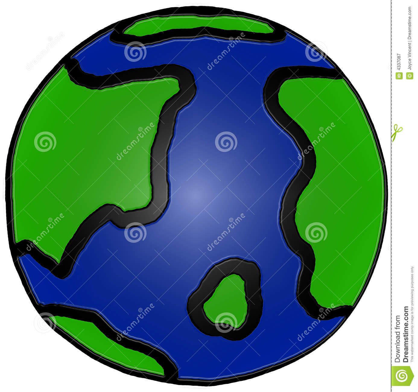 Cute hand drawn earth illustration royalty free stock for Easy to draw earth