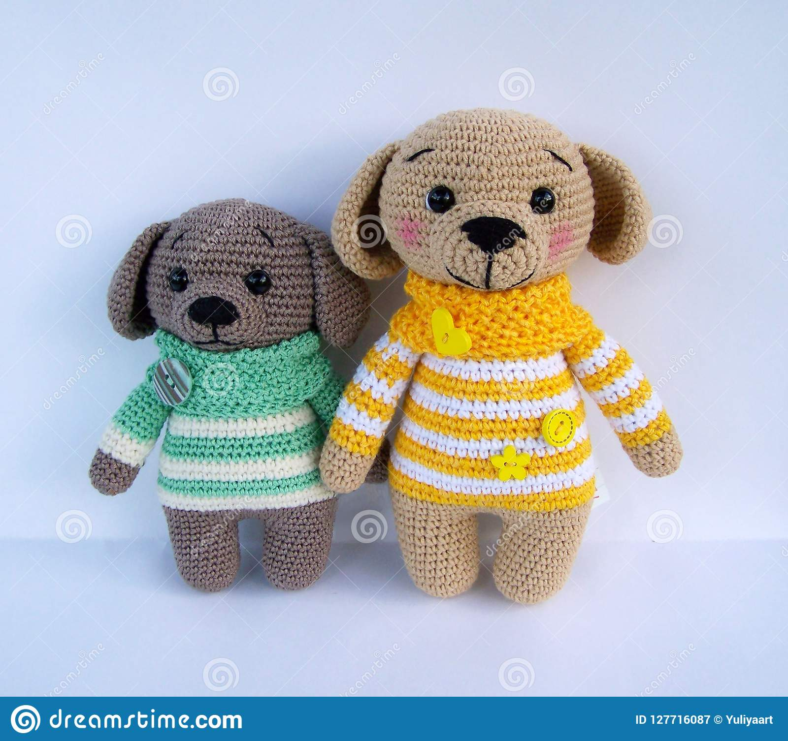 How to crochet an animal / doll dress with collar - Wooly Wonders ... | 1506x1600
