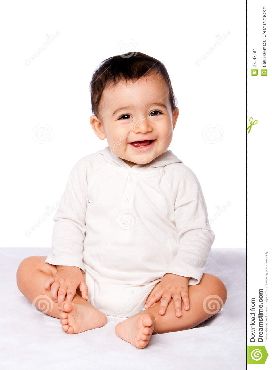cute happy baby sitting stock image image of expression