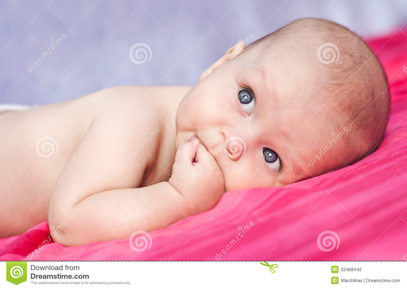 Cute Happy Baby Stock Photography