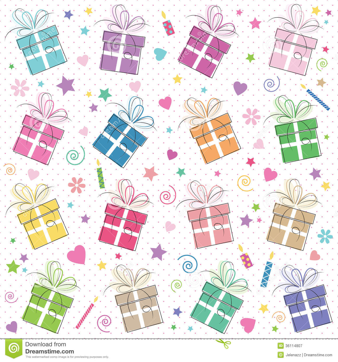 Cute Happy Birthday Background Stock Vector Illustration Of Friend