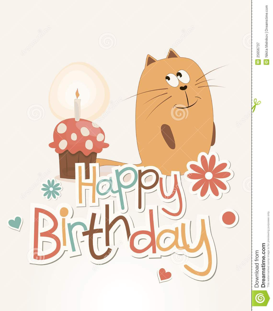 Cute Happy Birthday Card Royalty Free Photography Image – Cool Happy Birthday Cards