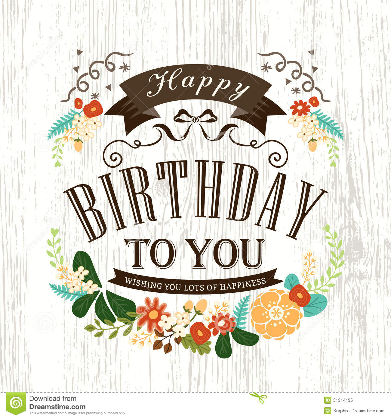Cute Happy Birthday Card Design  Happy Birthday Card Template Free Download