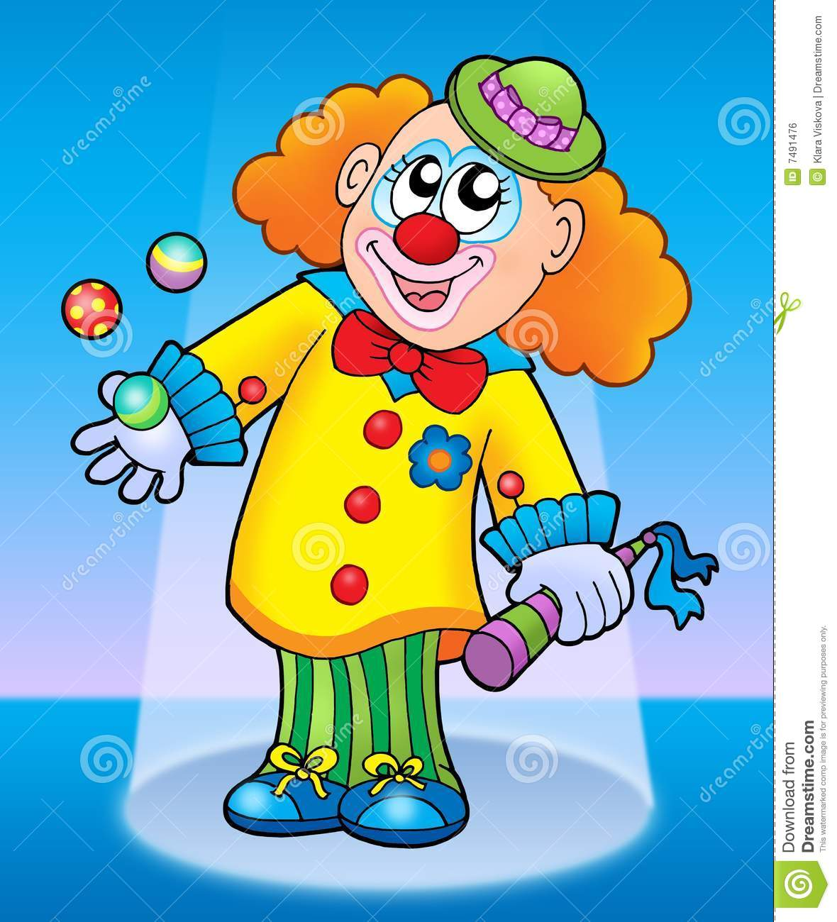 Cute Happy Clown Royalty Free Stock Image - Image: 7491476