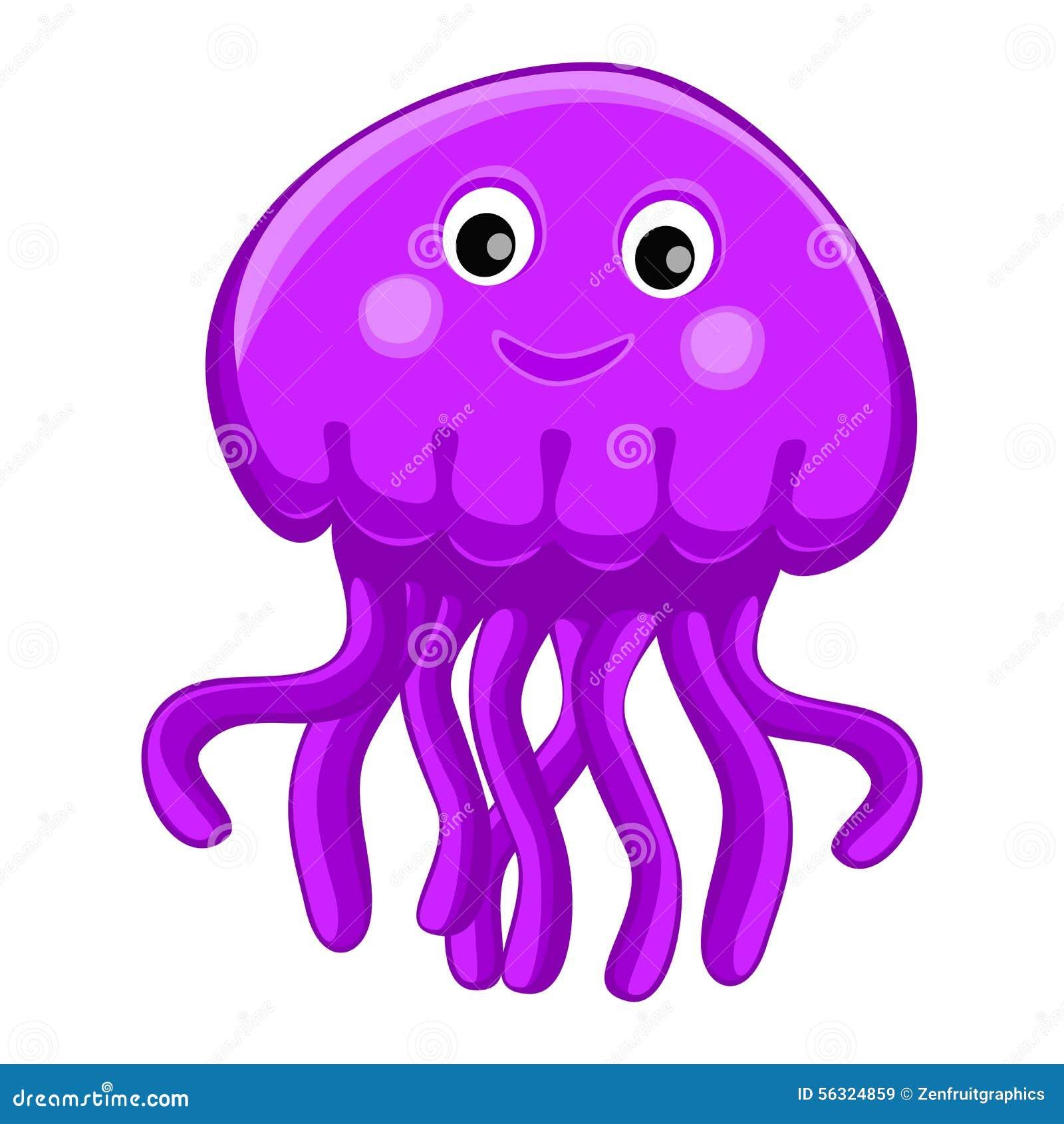cute happy jellyfish cartoon character sea animal vector Cool Medusa perseus and medusa clipart