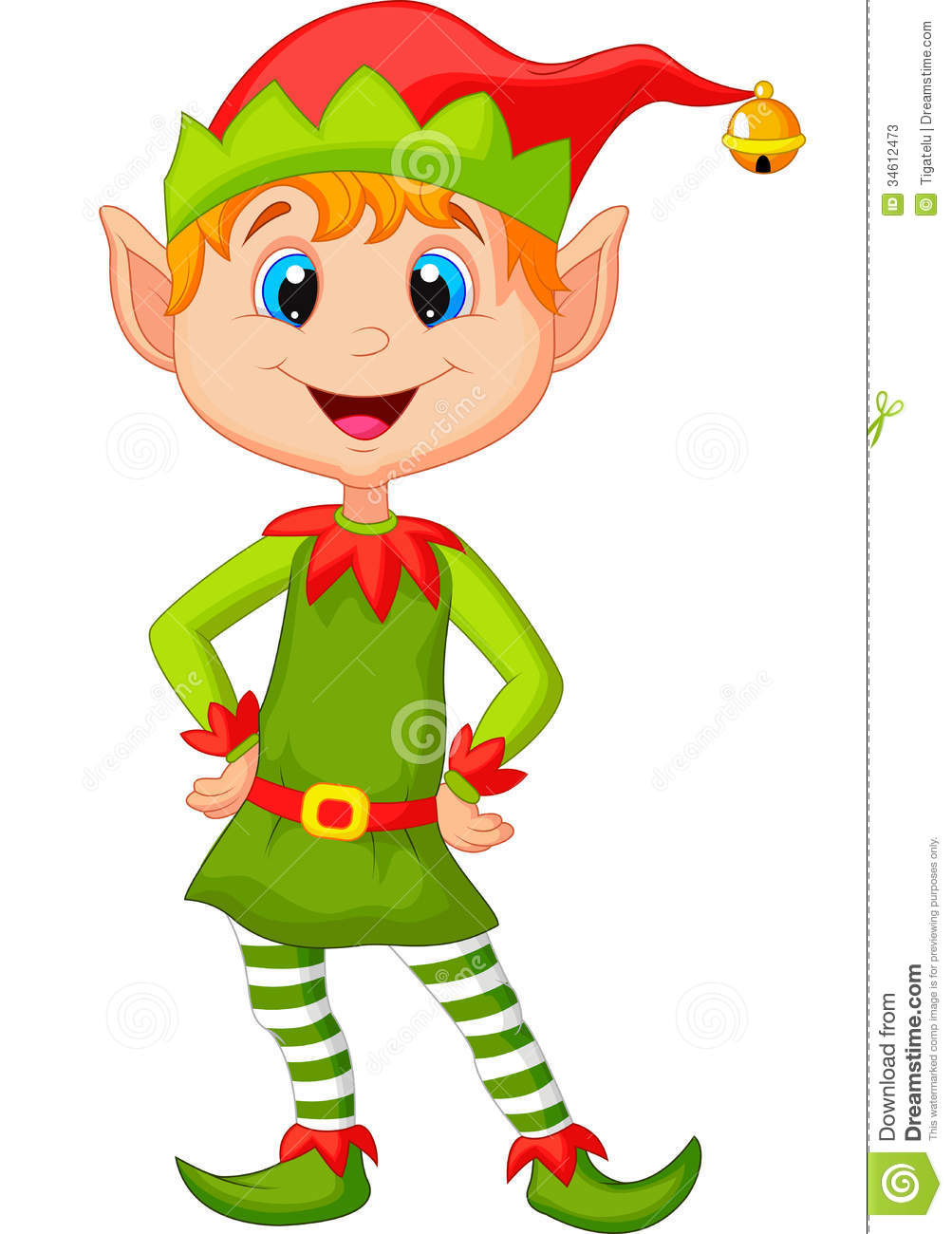 Cute And Happy Looking Christmas Elf Cartoon Stock Photos - Image ...