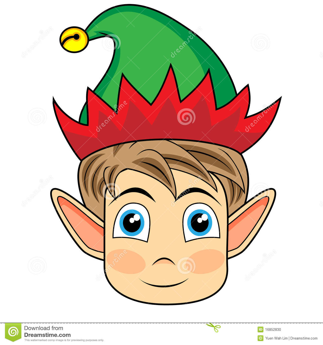 ... happy looking face of a christmas elf. Image: Cute Owl Happy Birthday