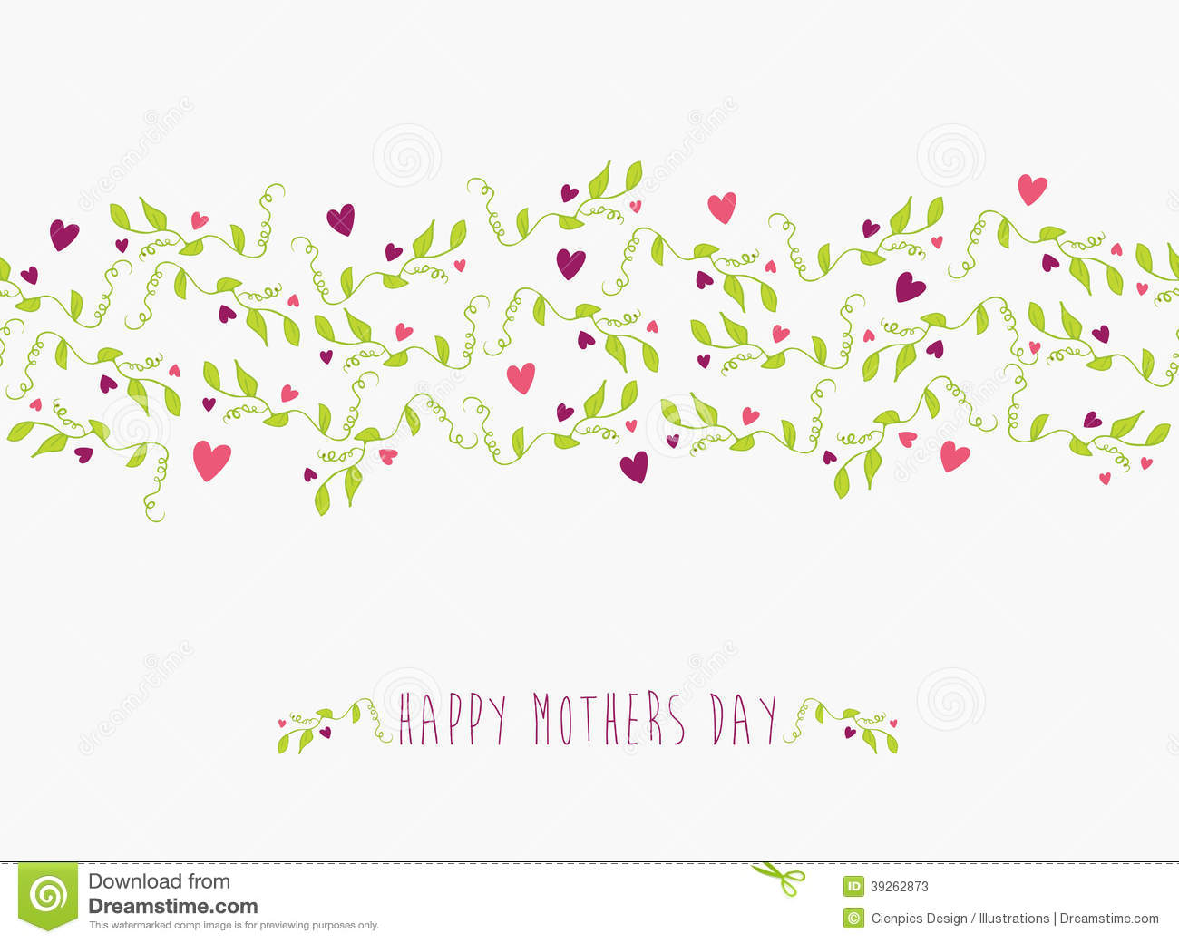 Cute Happy Mothers Day Seamless Pattern Stock Vector