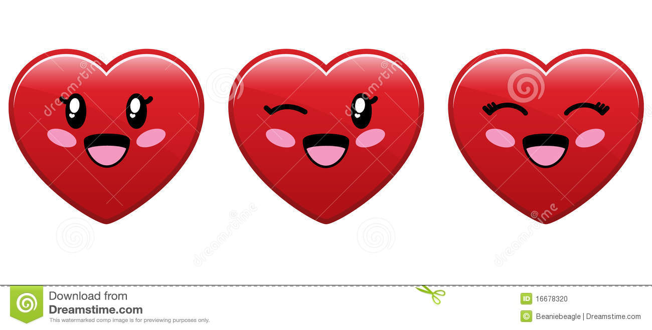 Cute Heart Character Stock Vector Illustration Of Emotion 16678320