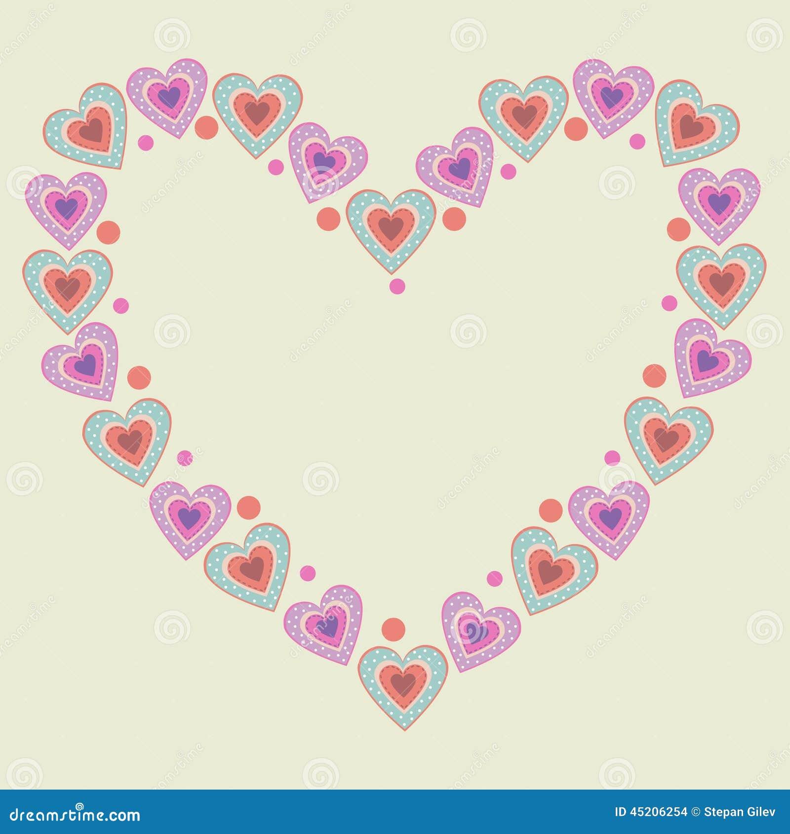 Cute heart frame stock vector. Illustration of element - 45206254