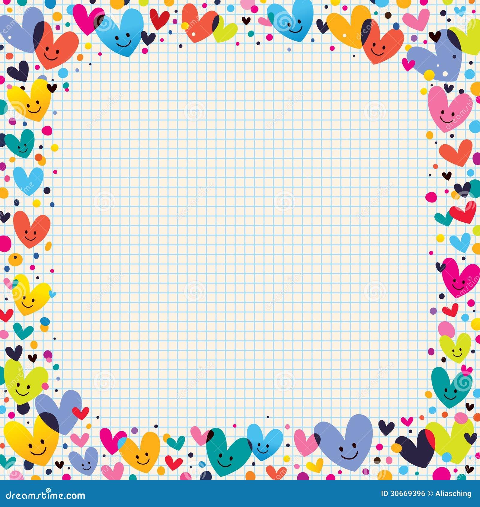 Cute Hearts Border Royalty Free Stock Image Image 30669396
