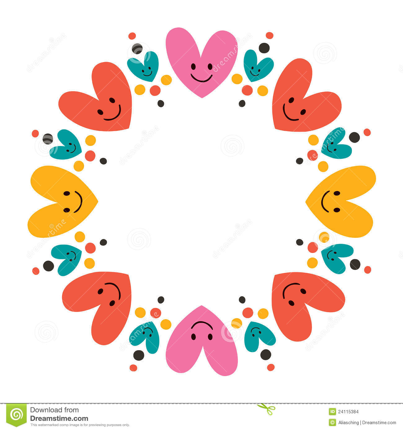 Cute Hearts Frame Stock Images - Image: 24115384