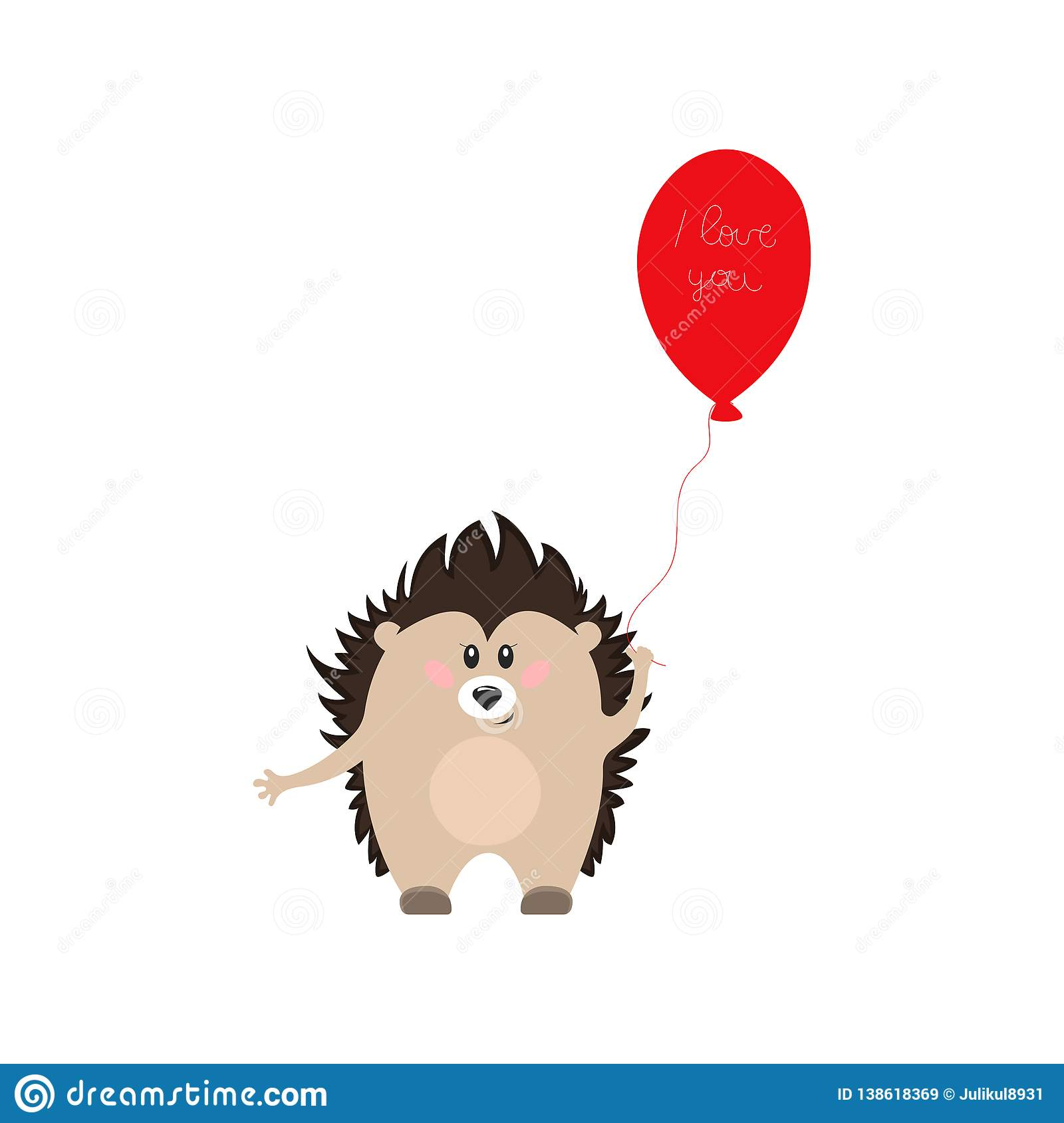 ALUONI 5x3ft Hedgehog Baby Hedgehog Carrying A Heart Bubble and Hand Written You Backdrop for Photography Photo Background Props Photography AM017342