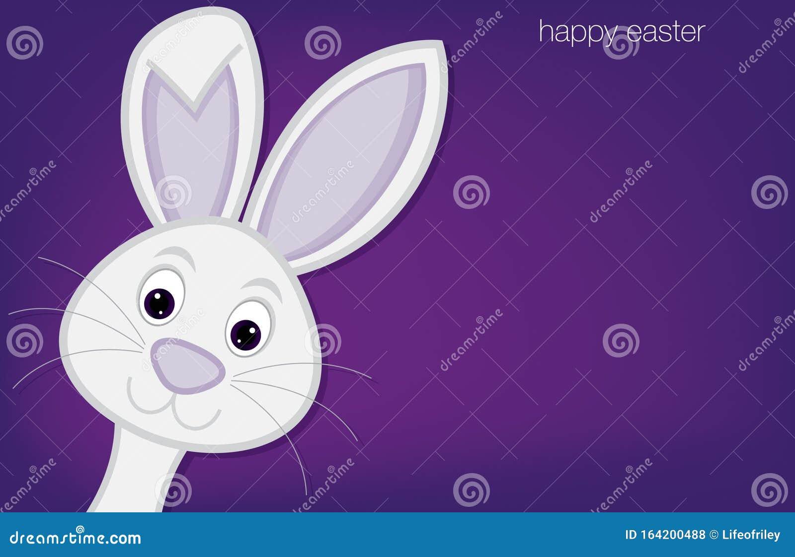 Cute Hiding Easter Bunny Card Stock Vector Illustration Of Happy Colour 164200488