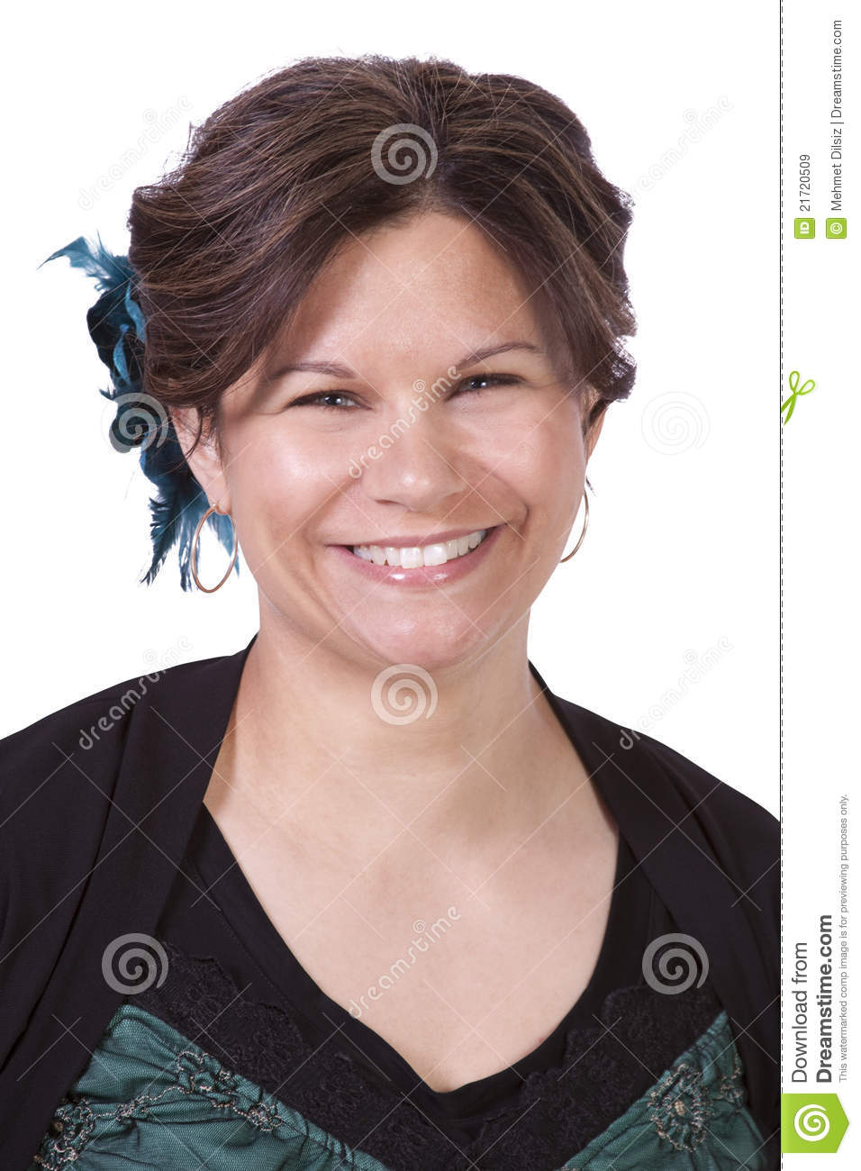 Royalty Free Stock Images: Cute Hispanic Woman With Her