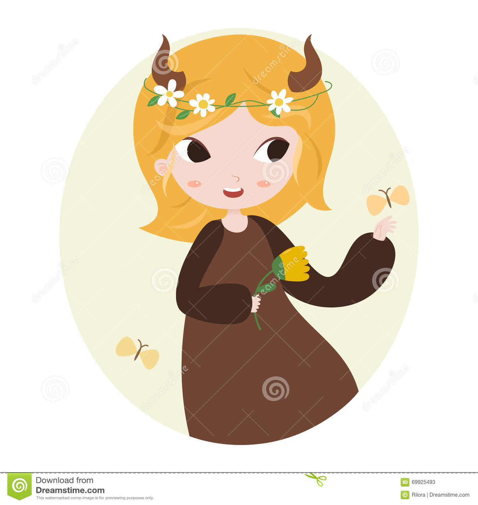 Cute Horoscope Zodiac Signs Taurus Vector Image 69925493 – Zodiac Calendar Template