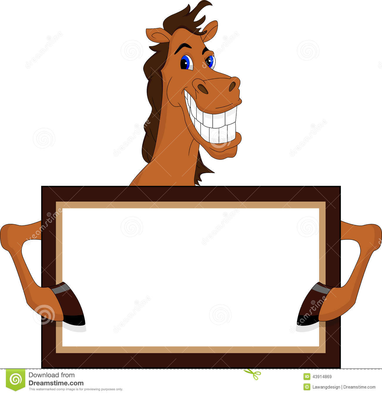 horse with blank sign royalty free illustration horse outline clip art free Derby Clip Art Free