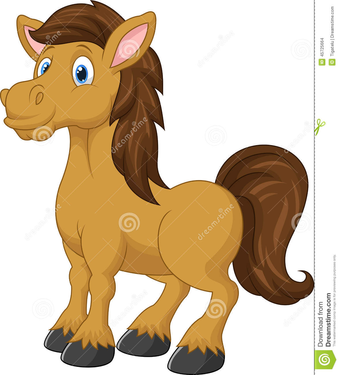 Cute Horse Cartoon Stock Vector - Image: 45725664