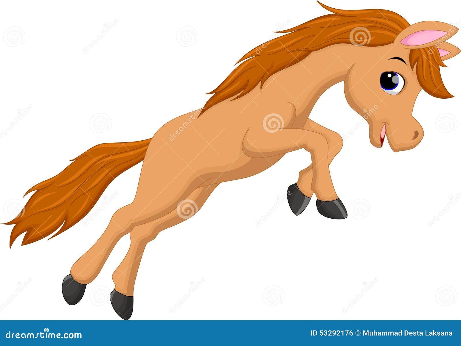 cute horse cartoon jumping stock illustration image Foal Clip Art Foal Clip Art
