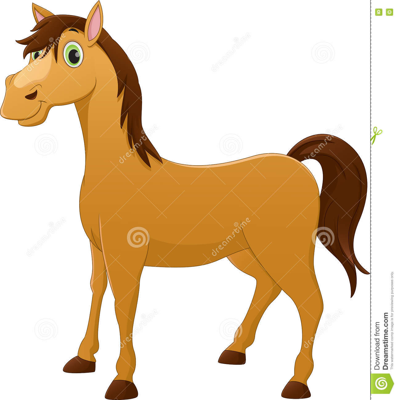 Cute Horse Cartoon Stock Vector Illustration Of Mouth 72641194