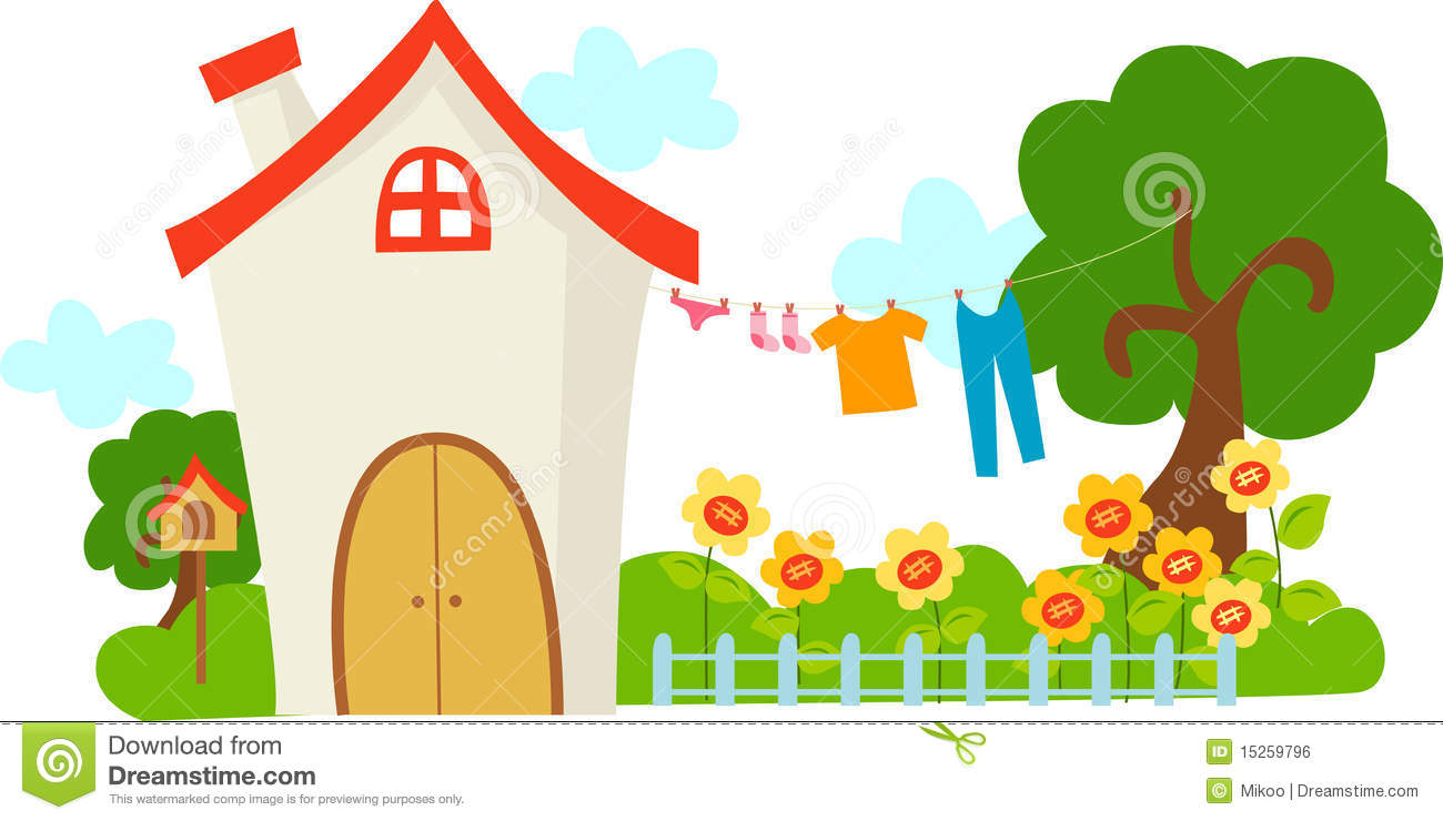 A cute house stock vector image of house tranquillity for Cute house pictures