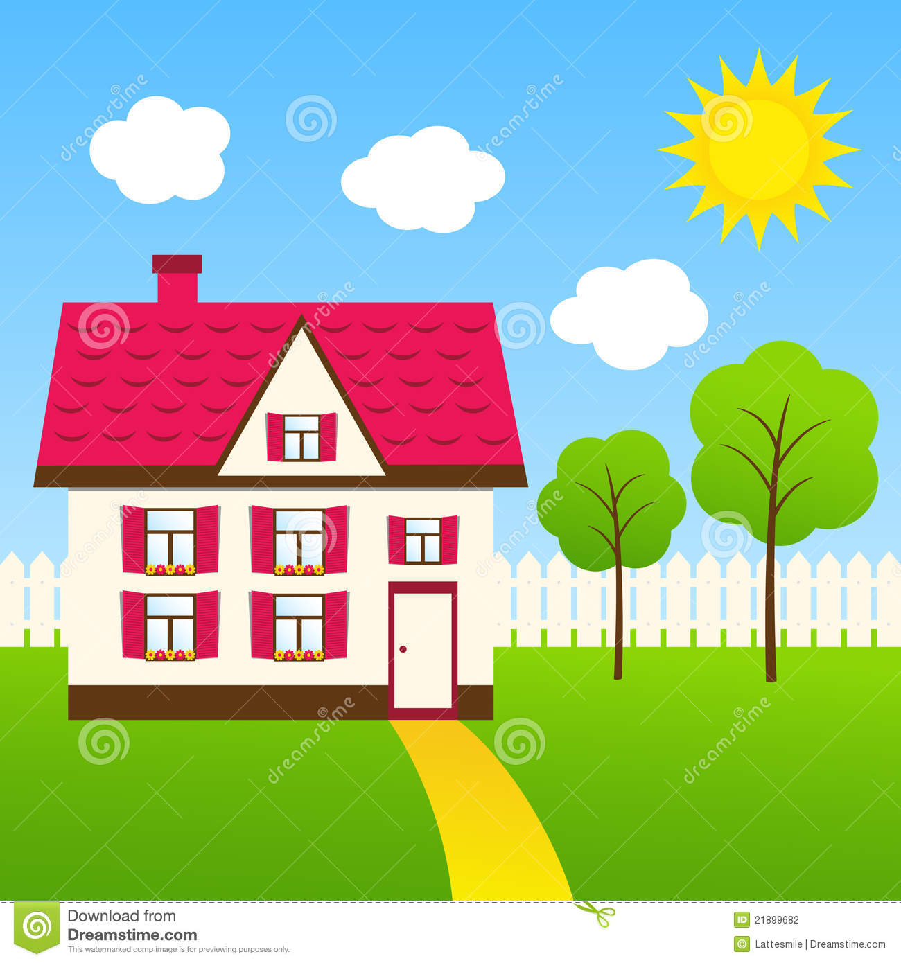 Cute house stock photography image 21899682 for Photos of cute houses