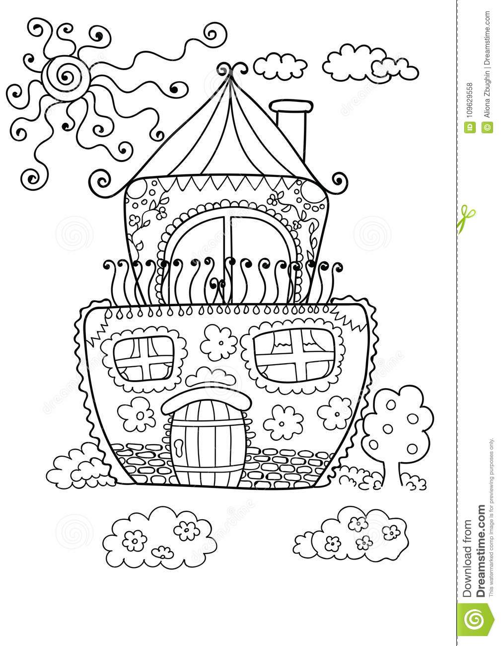 Cartoon House Coloring Pages Cartoon House Outline ClipArt Best ...