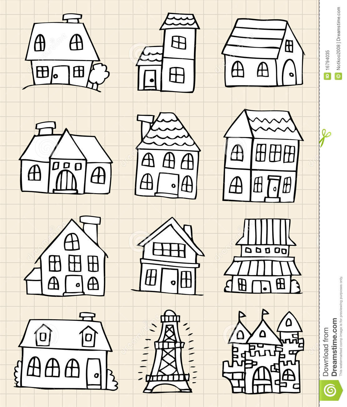 Cute house draw royalty free stock photo image 16794035 for Draw house online