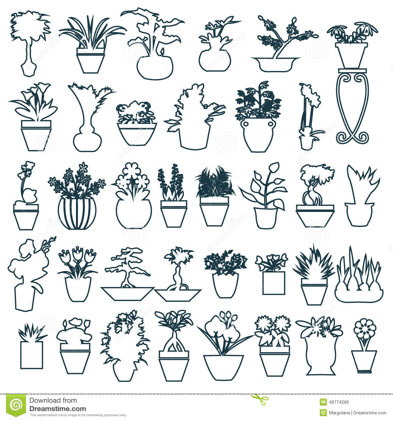 house plants drawing. royaltyfree vector download cute house plants drawing a