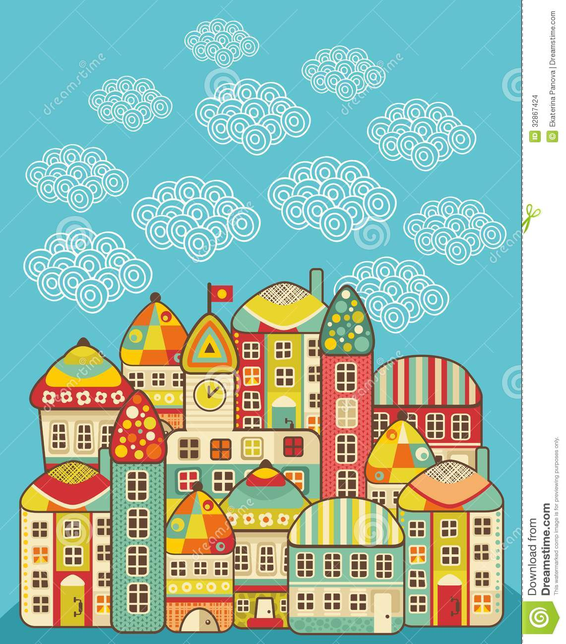 cute houses  stock images