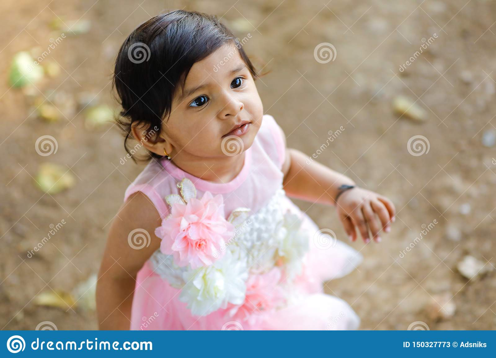 Cute Indian Baby Girl Stock Image Image Of Background 150327773