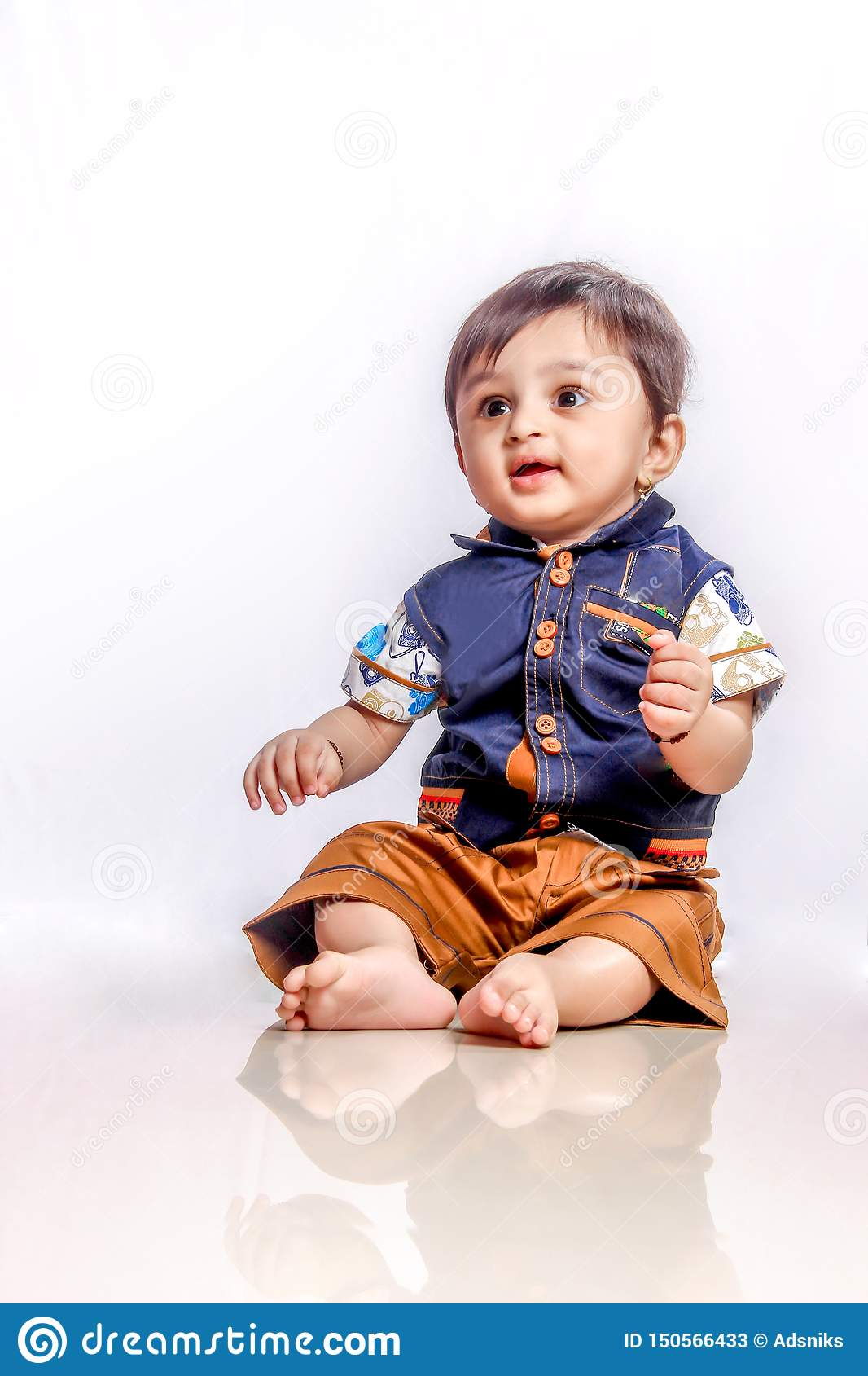 Cute Indian Baby Boy Smiling Stock Image Image Of Lifestyle Adorable 150566433