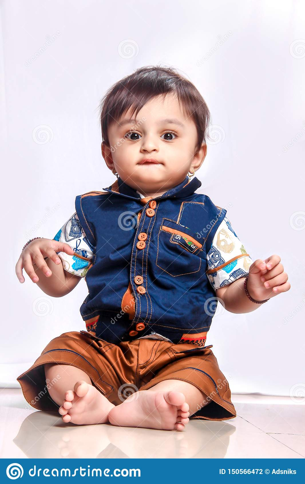 Cute Indian Baby Boy Smiling Stock Photo Image Of Beautiful Grass 150566472