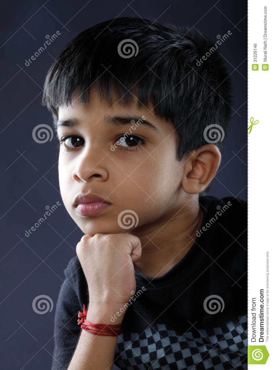 Cute Indian Boy Stock Photo Image Of Frustrated