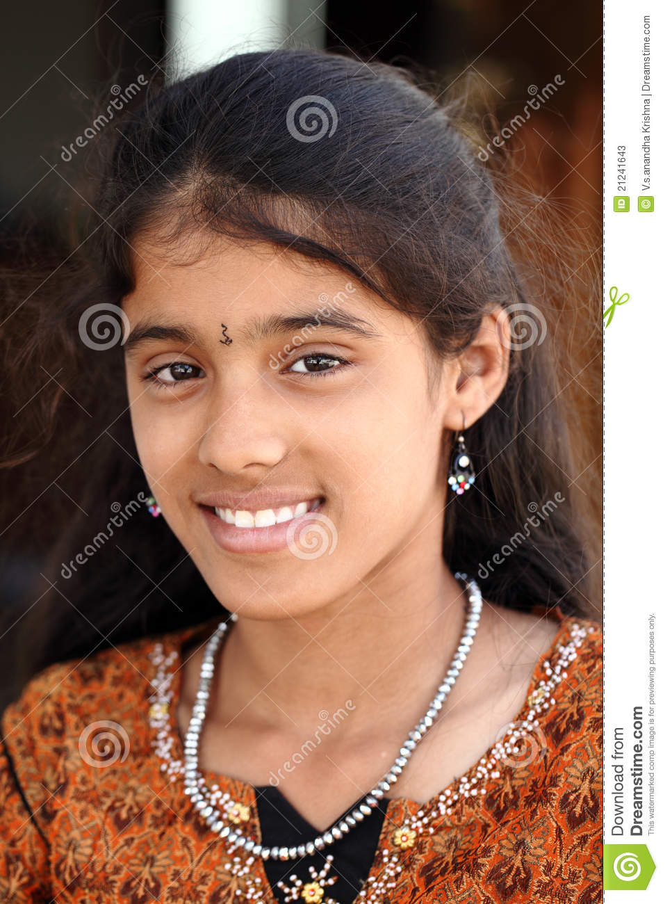 Cute Indian Teen Girl Stock Image Image Of Face, Small - 21241643
