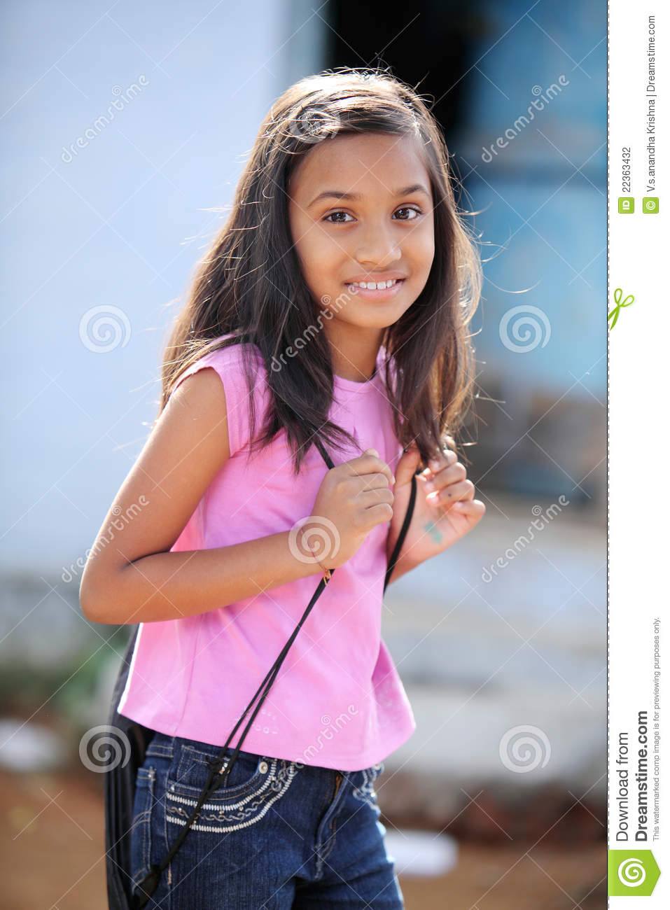 Cute Indian Teen Girl Stock Photography Image 22363432