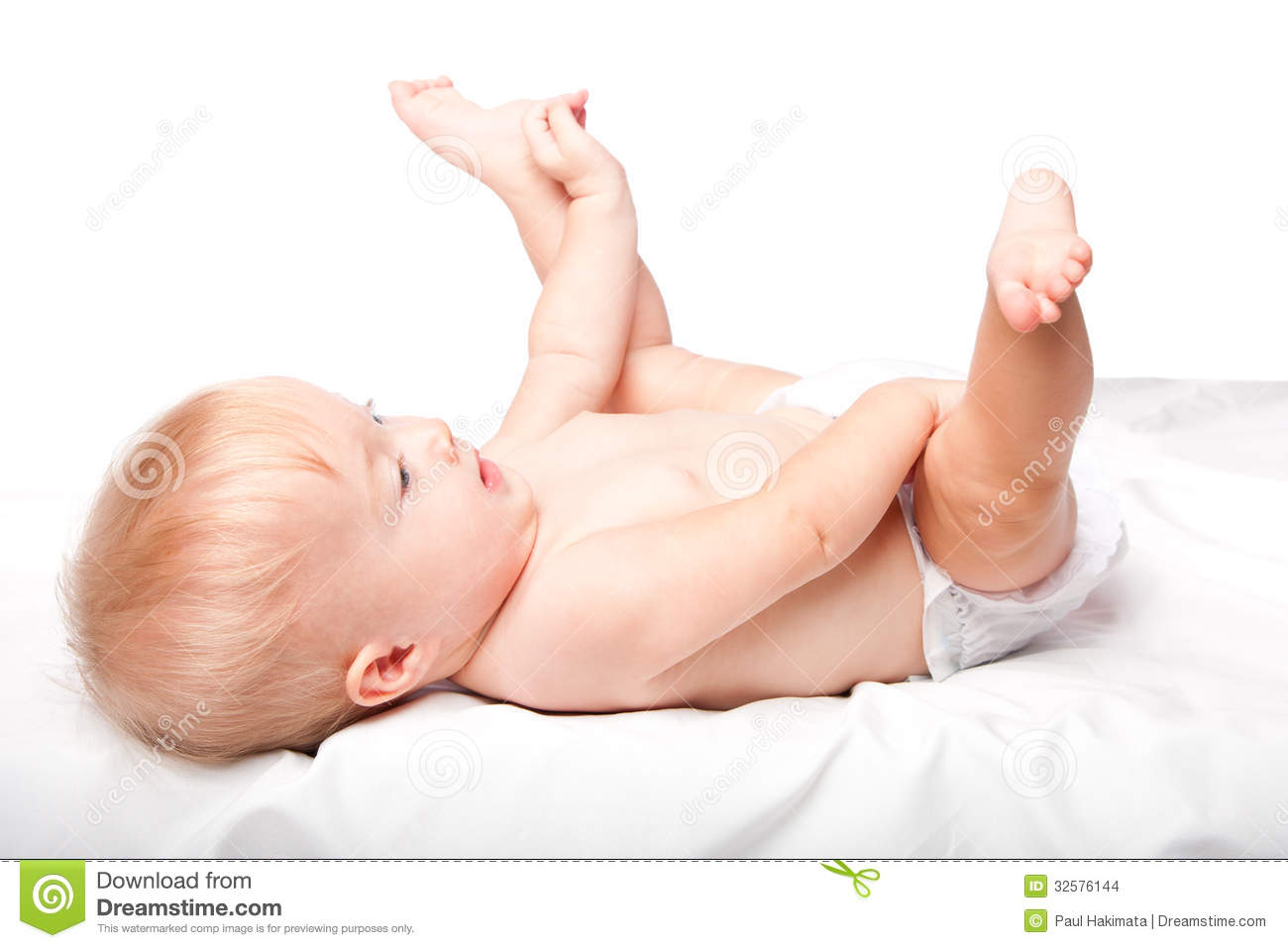 Cute Infant Laying On Back Stock Images Image 32576144