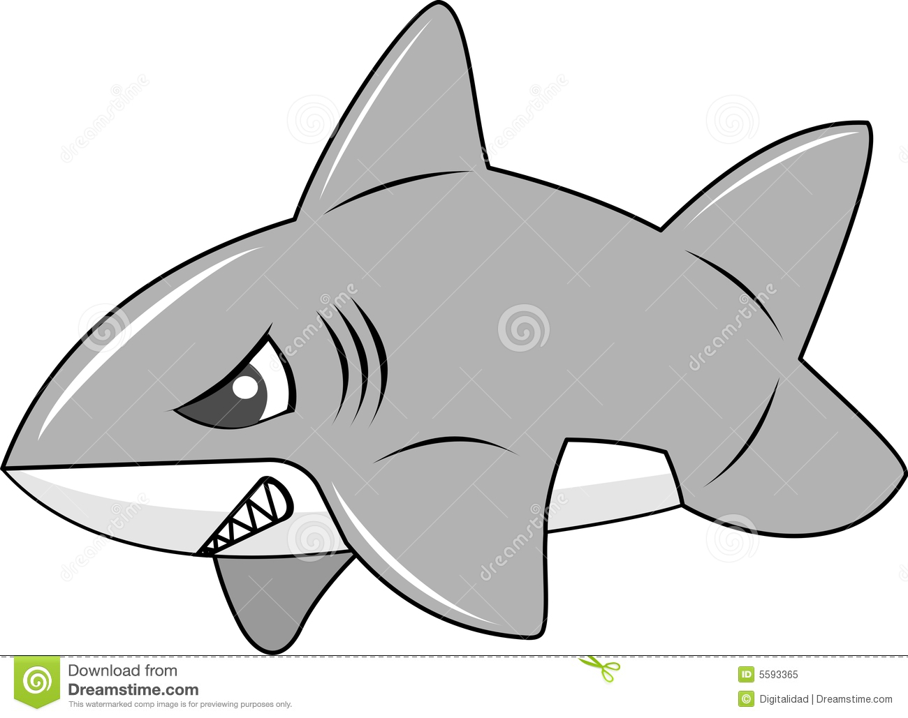 Cute Inflated Shark Royalty Free Stock Photo Image 5593365