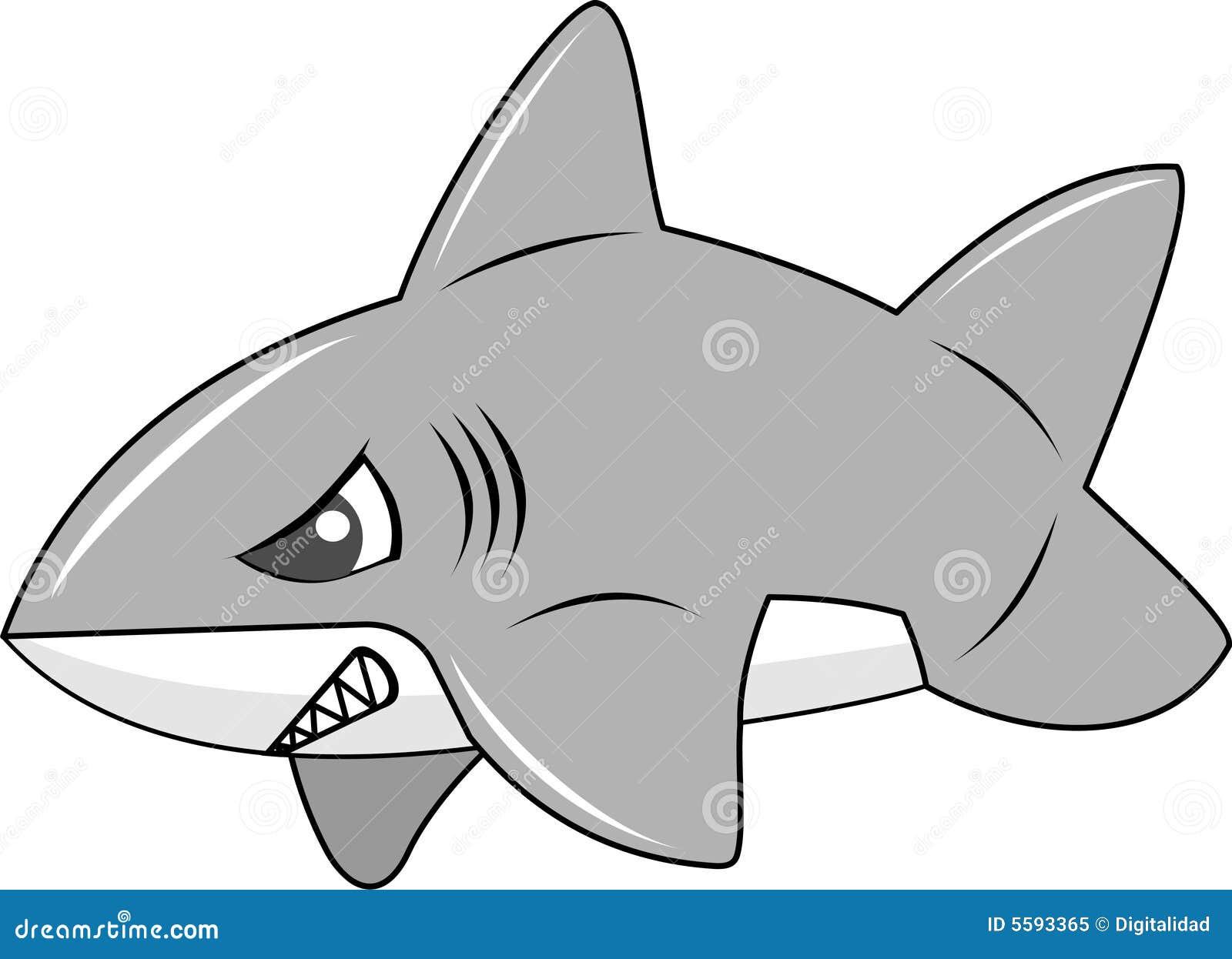 Cute shark clipart black and white - photo#16