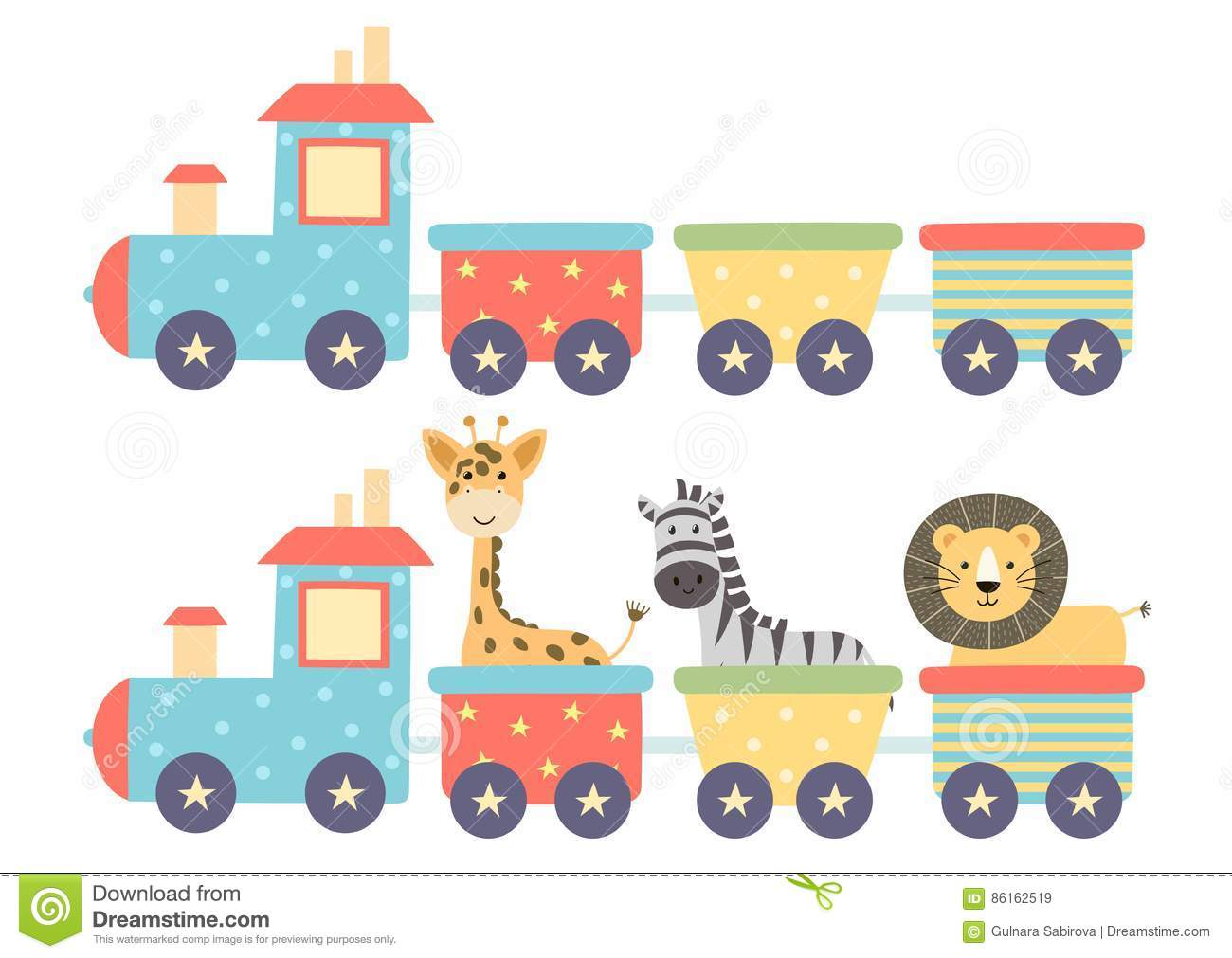Cute Isolated Train For Baby Design Stock Vector ...