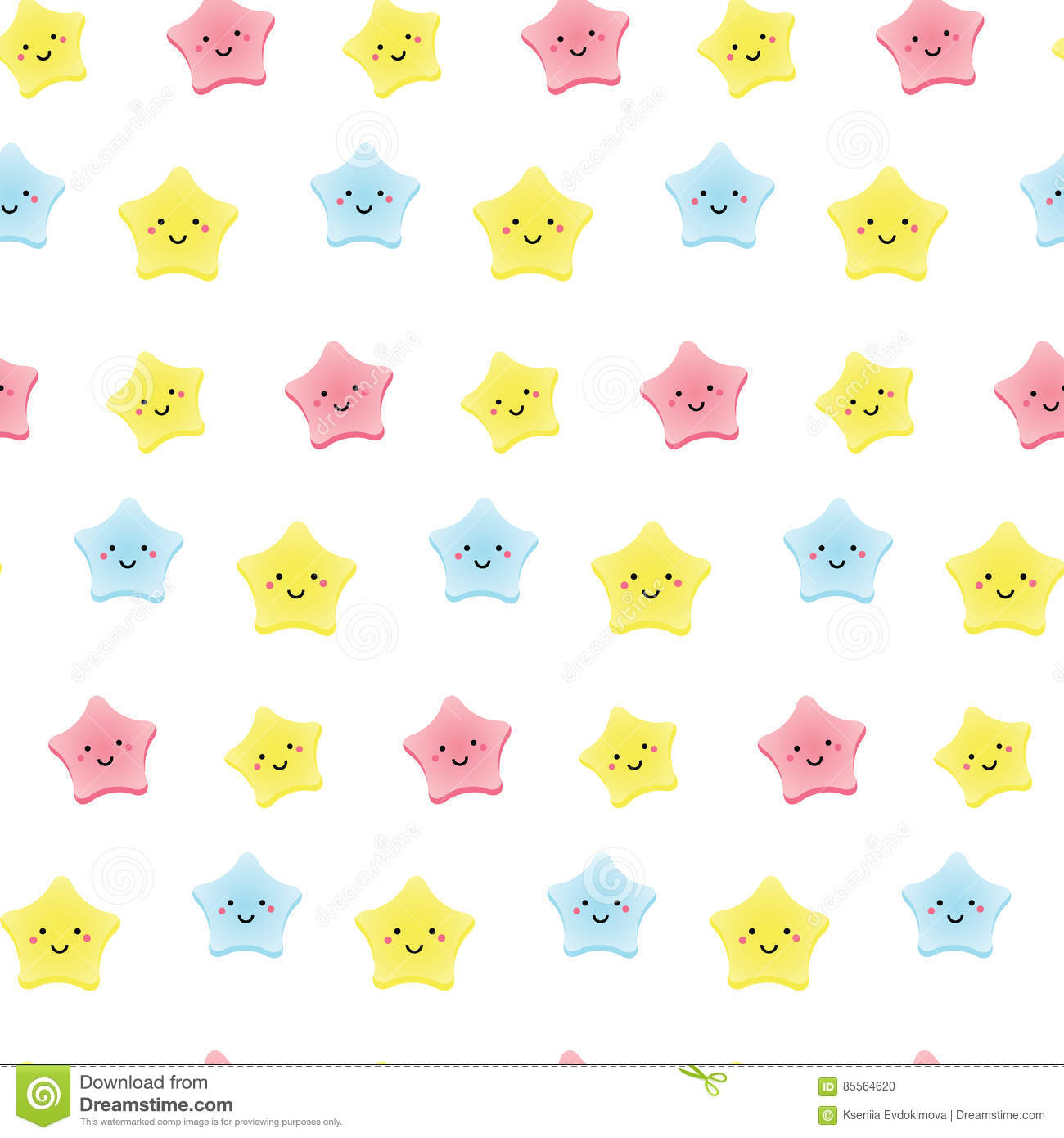 cute kawaii stars background for kids babies and
