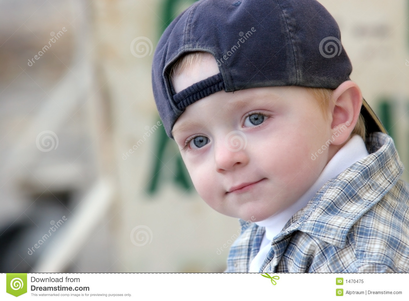 cute kid with baseball cap stock image. image of youth - 1470475