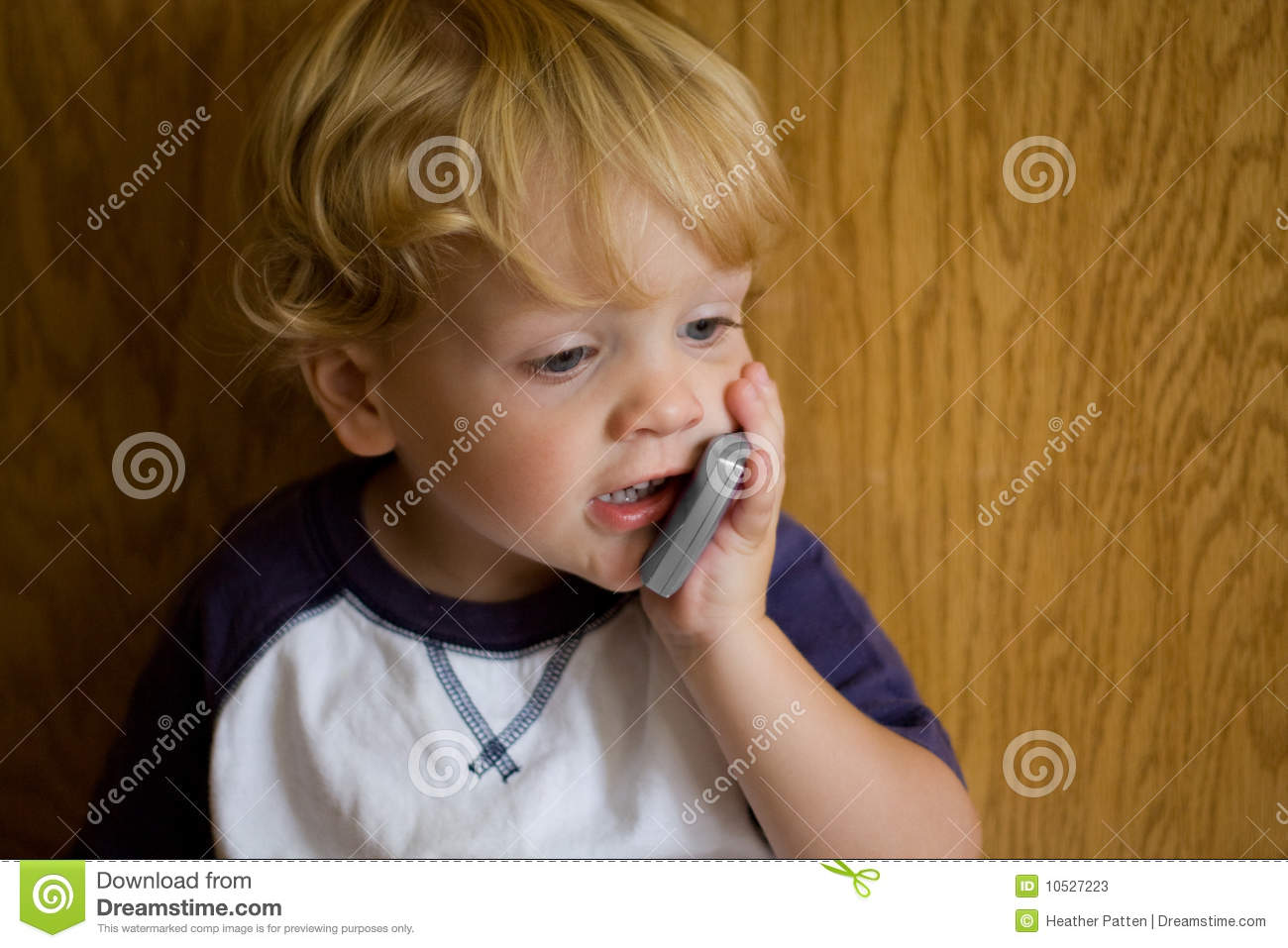 cute kid with cell phone stock image. image of communication - 10527223