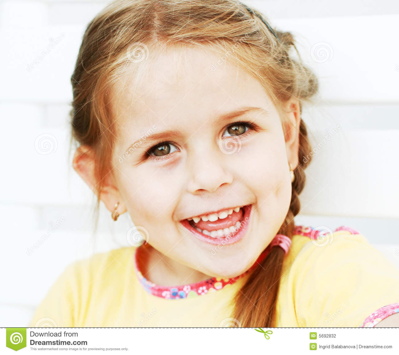 Cute kid laughing stock photo. Image of child, children ...