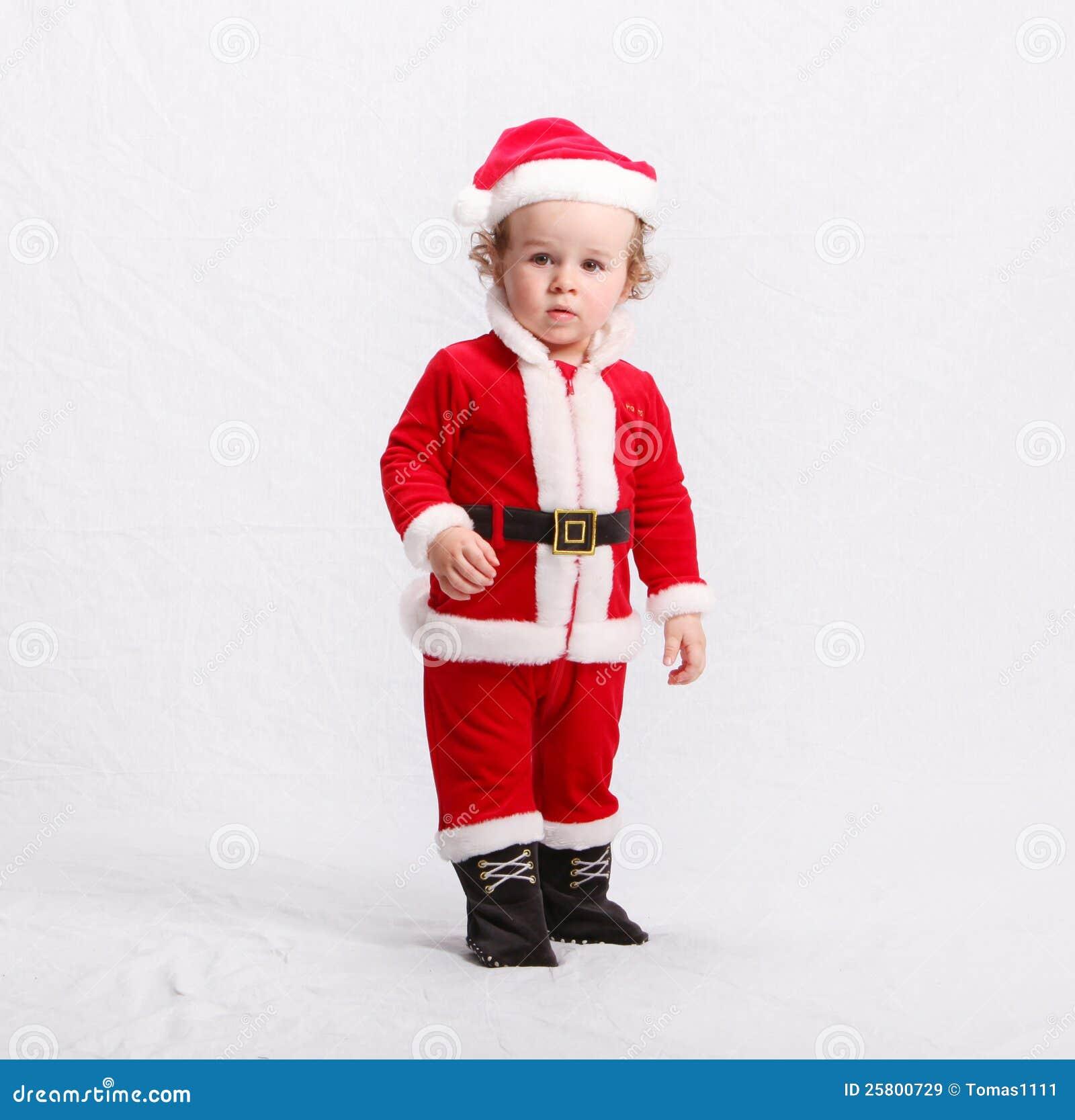 cute kid in santa claus clothes - Kids Santa Claus