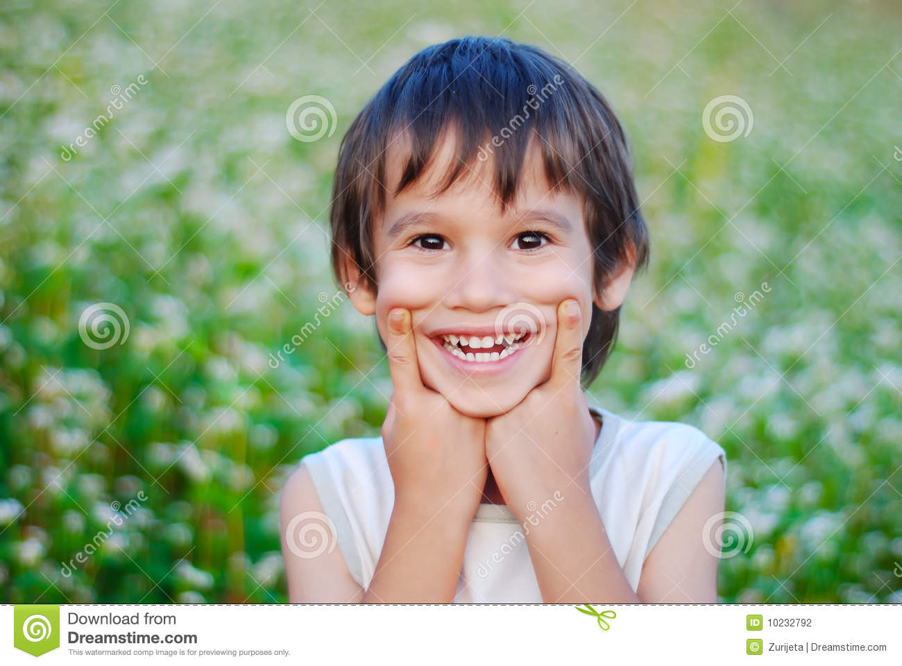 cute kid with smile grimace stock photo - image of body, male: 10232792