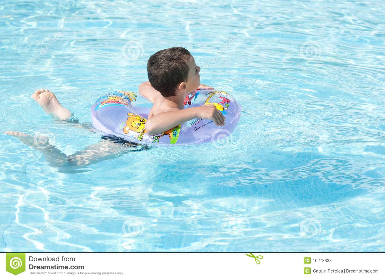 Cute kid swimming in pool stock photos image 10273633 for Cute pool pictures