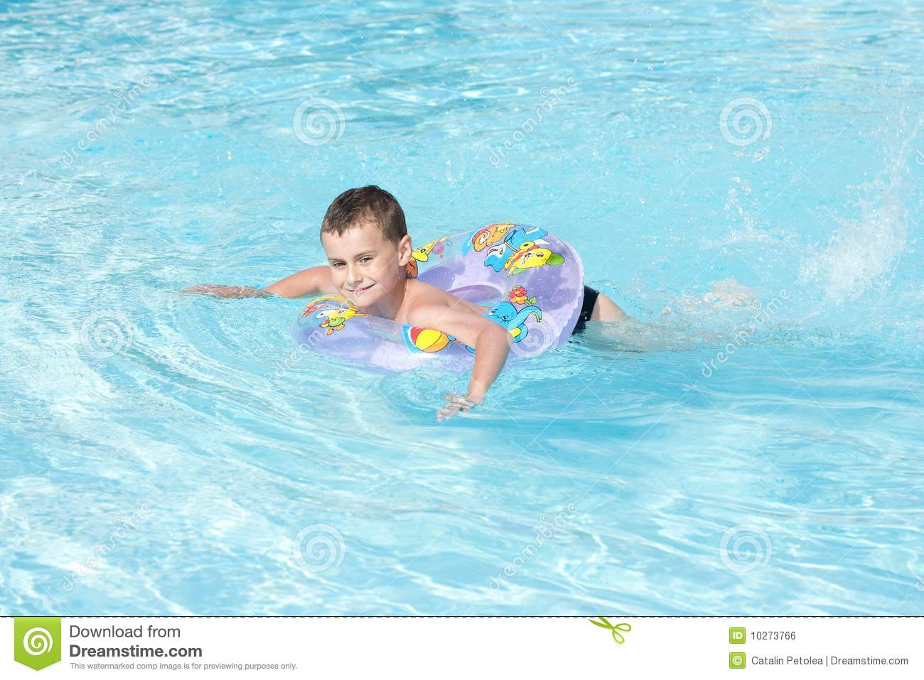 Cute kid swimming in pool royalty free stock image image for Cute pool pictures